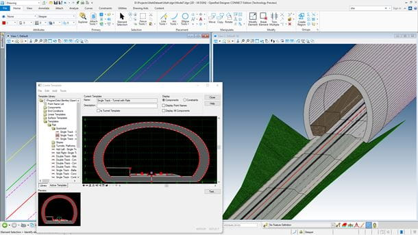 Design and analyze rail and road corridors