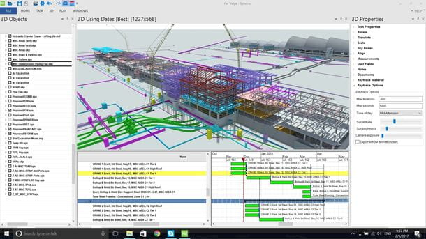 Synchro PRO 4D model of airport construction model