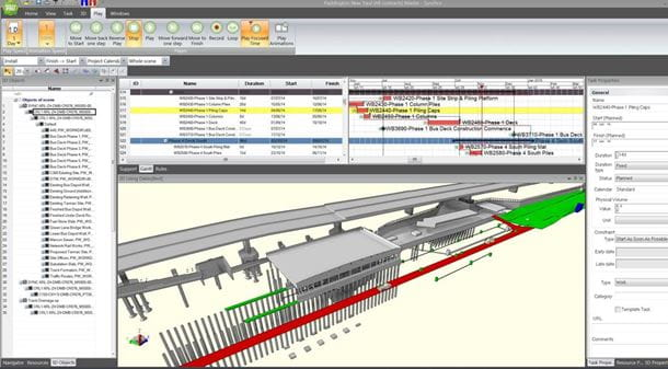 Synchro 4D construction modeling of Crossrail Station