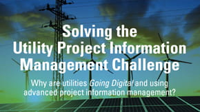 Project information management for utilities