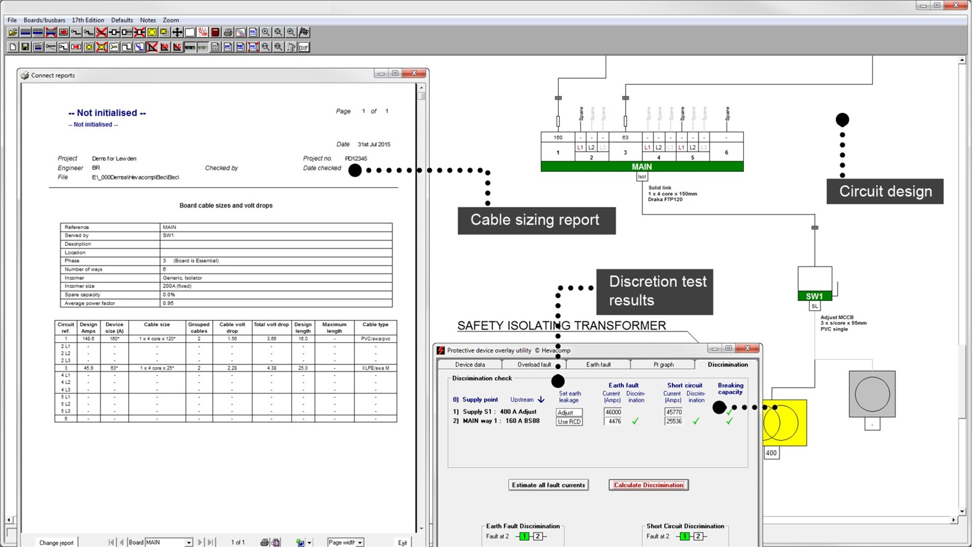 Uk building electrical design analysis software hevacomp for Building layout tool