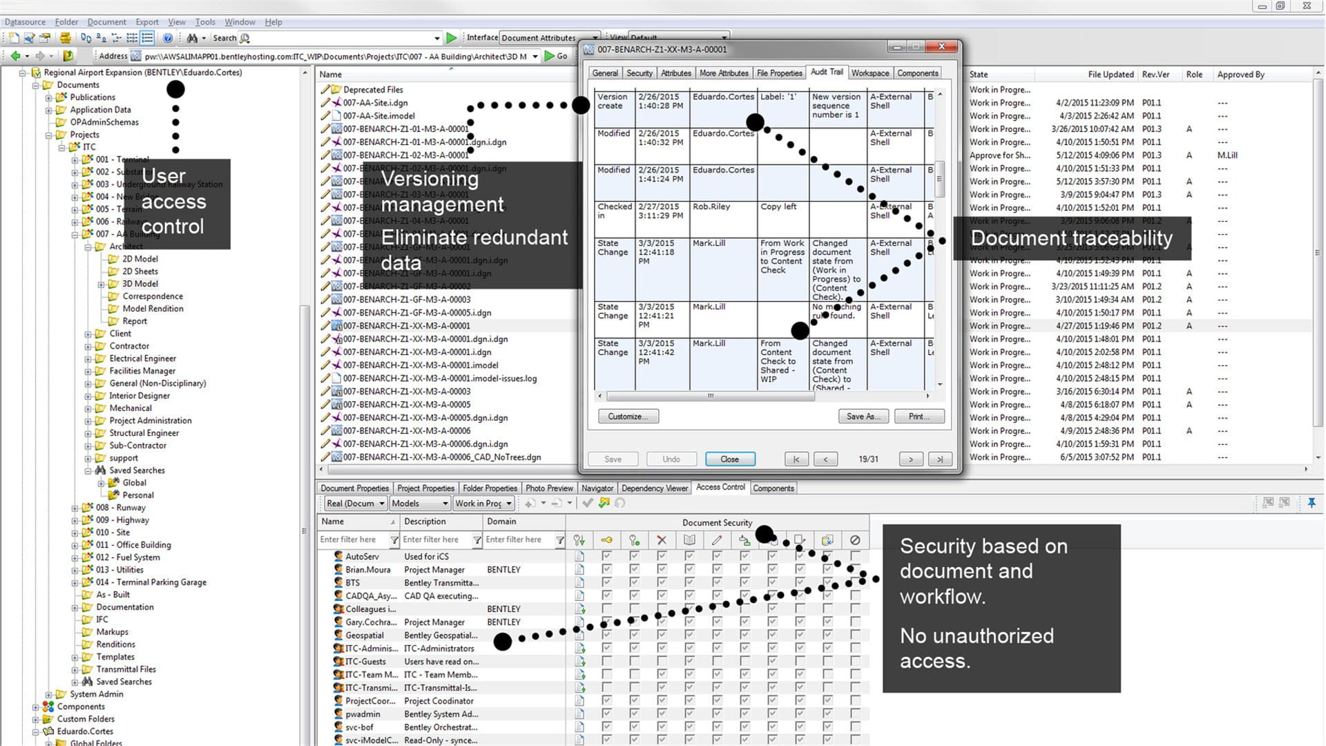 Construction Management Database : Project and design collaboration software projectwise