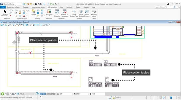 Generate Cable Raceway Construct Drawings with Text Annotations