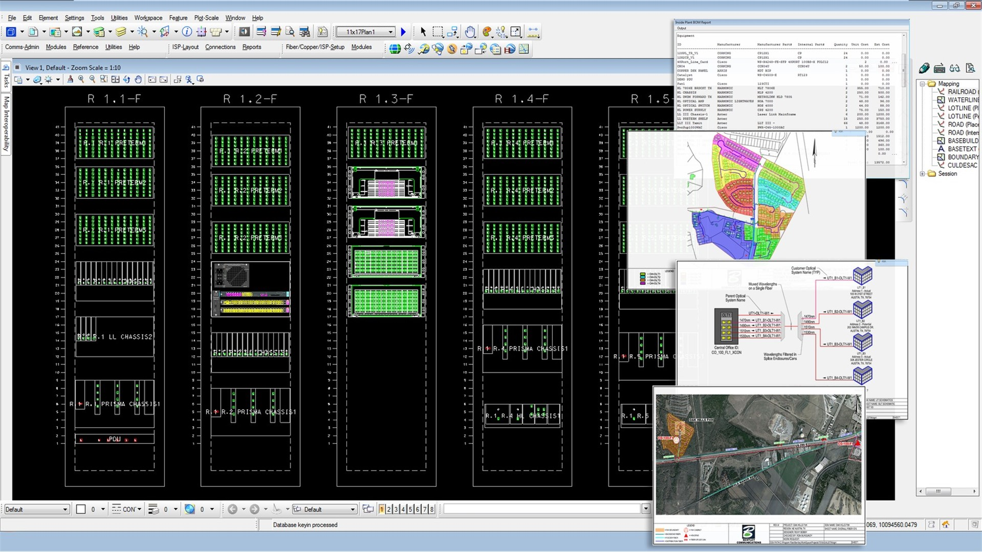 Fiber Network Design and GIS Software - Bentley Fiber