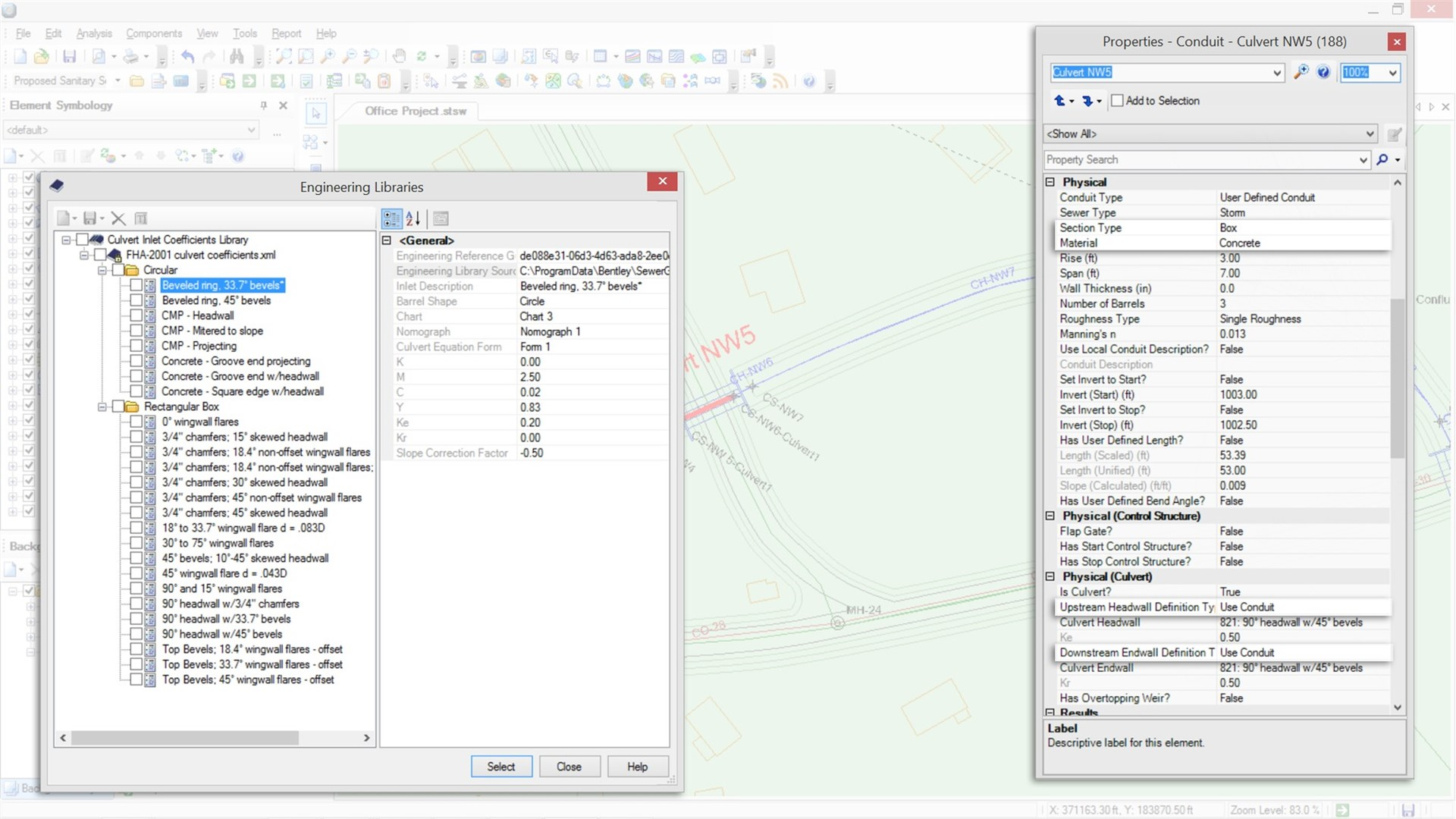Storm Sewer Design and Analysis Software - OpenFlows StormCAD