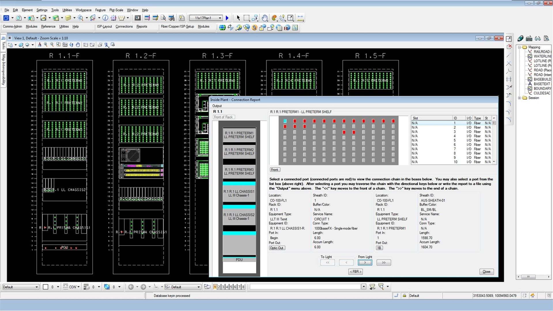 Bentley Inside Plant Network Facilities Design Software Structured Wiring System Schematic And Materials List Read More