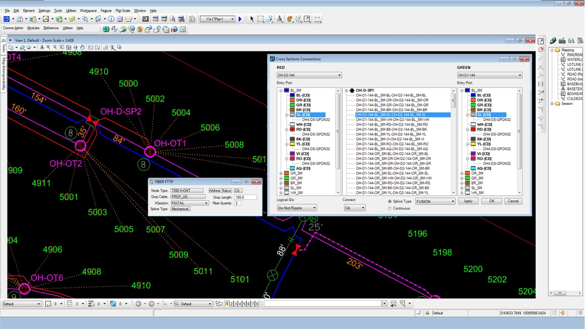 Fiber Network Design And Gis Software Bentley Optic Cable Schematic Read More