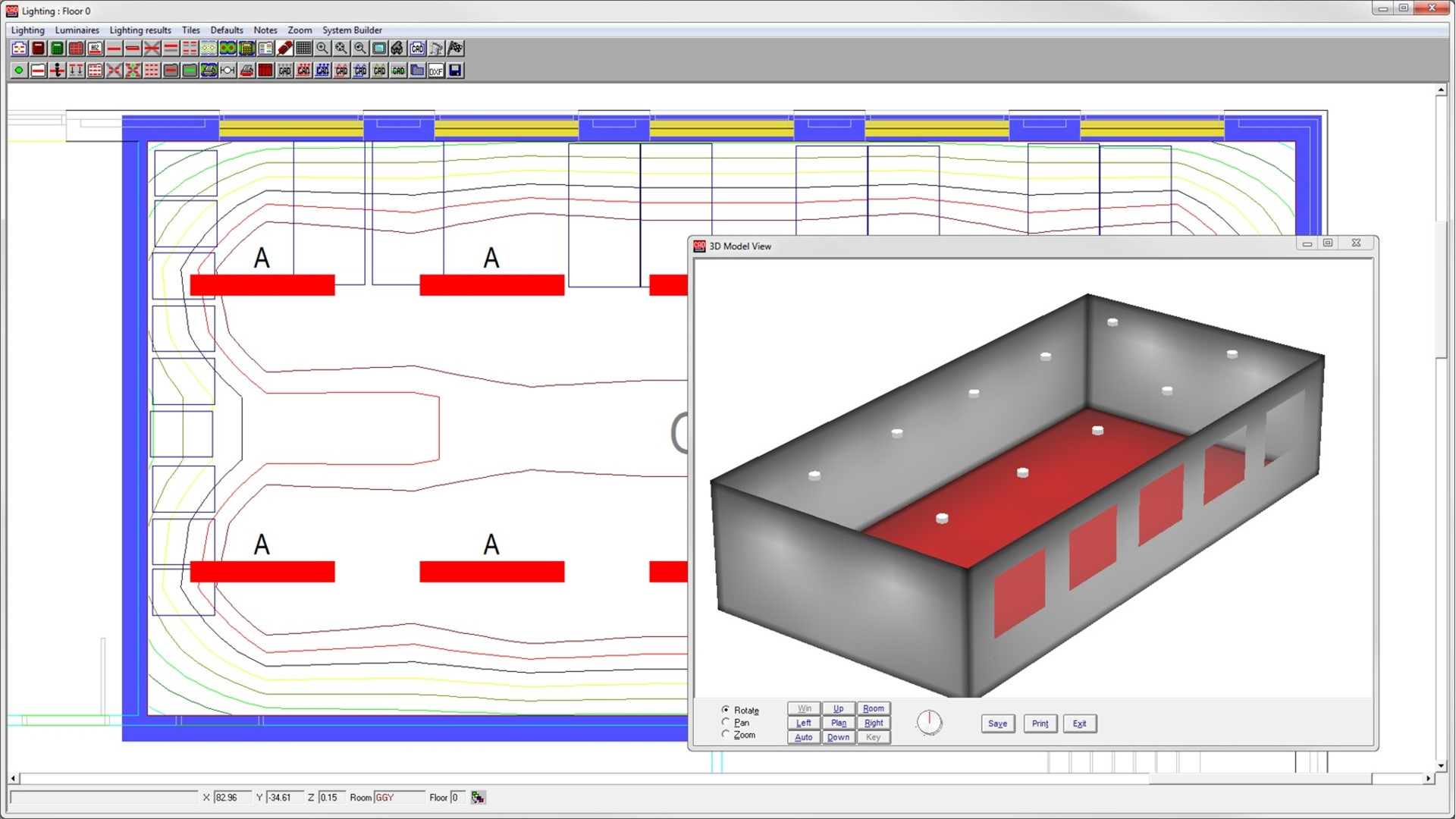 Uk Building Electrical Design Analysis Software Hevacomp Lighting Diagram Capabilities