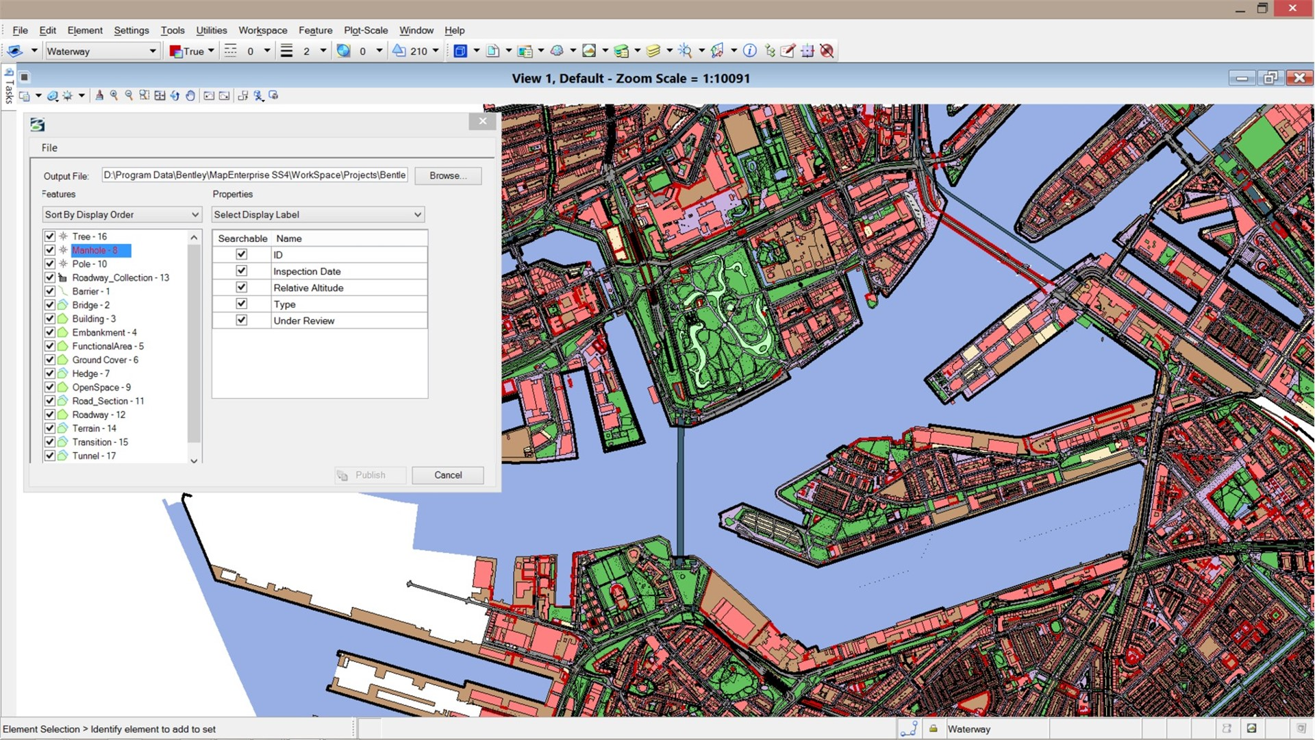 Publish GIS Data Bentley Map Mobile Publisher Software