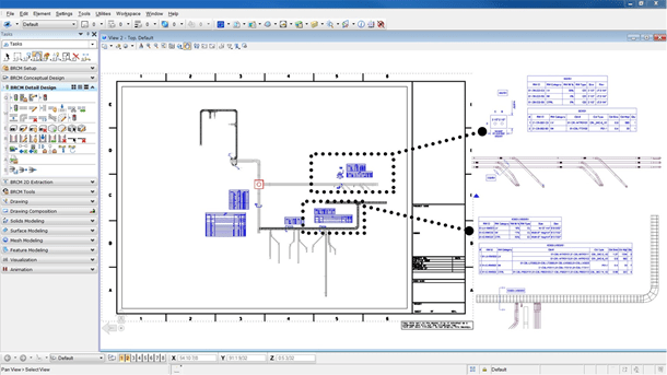 Generate cable and raceway construction drawings