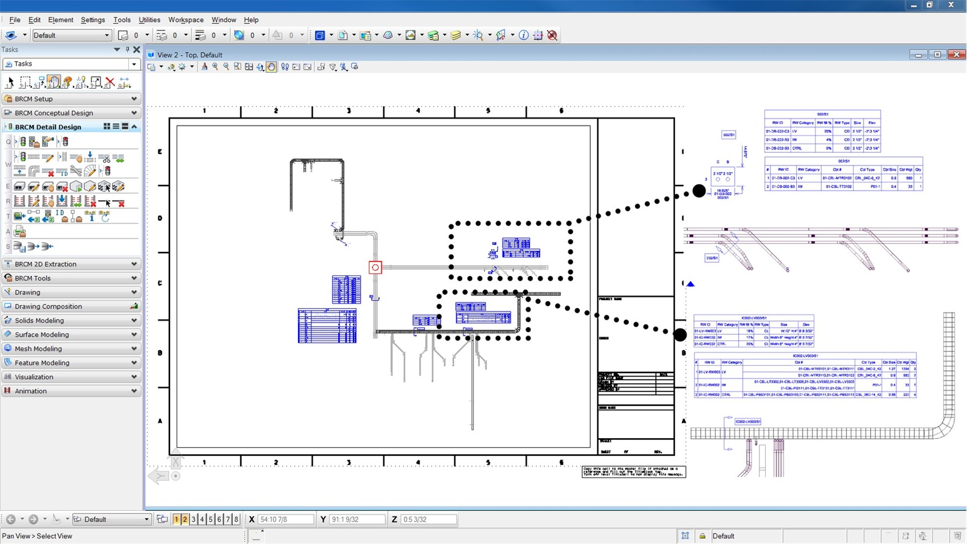 D Line Drawing Software : Bentley raceway and cable management design software