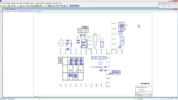 Generate plant layout drawings