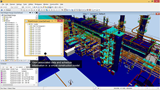 Visualize engineering and construction data in a construction model