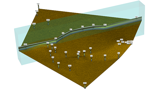 Integrate geotechnical data boreholes