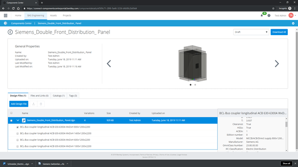 Manage data and documents associated with digital components