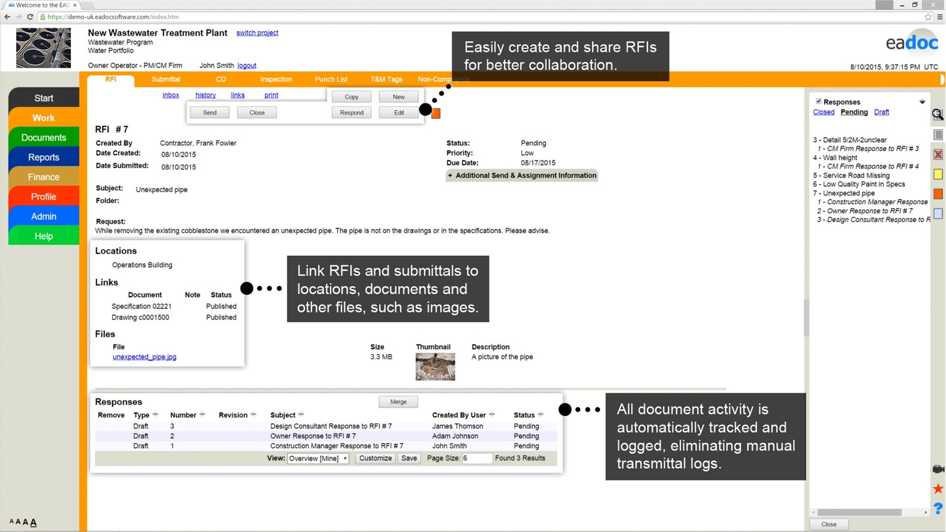 Bentley ProjectWise Construction Management Software