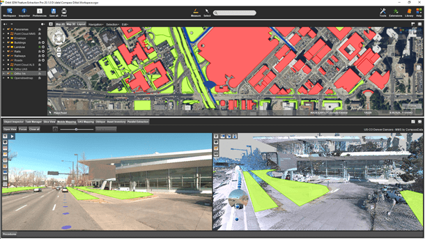 Navigate Mapping Data in Full 2D or 3D View