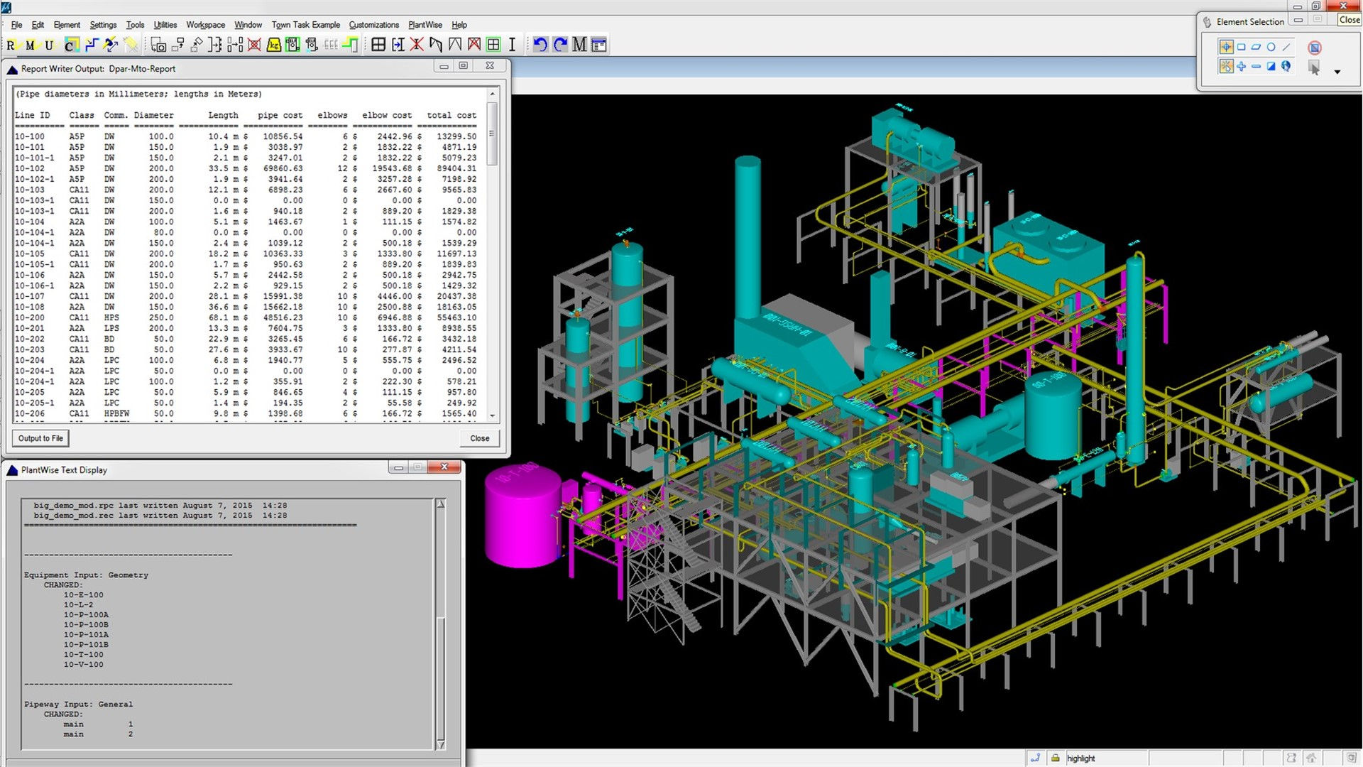 3d process plant design software ndash bentley plantwise piping layout and design pictures