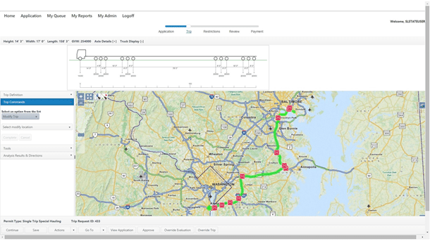 Perform real time route validation