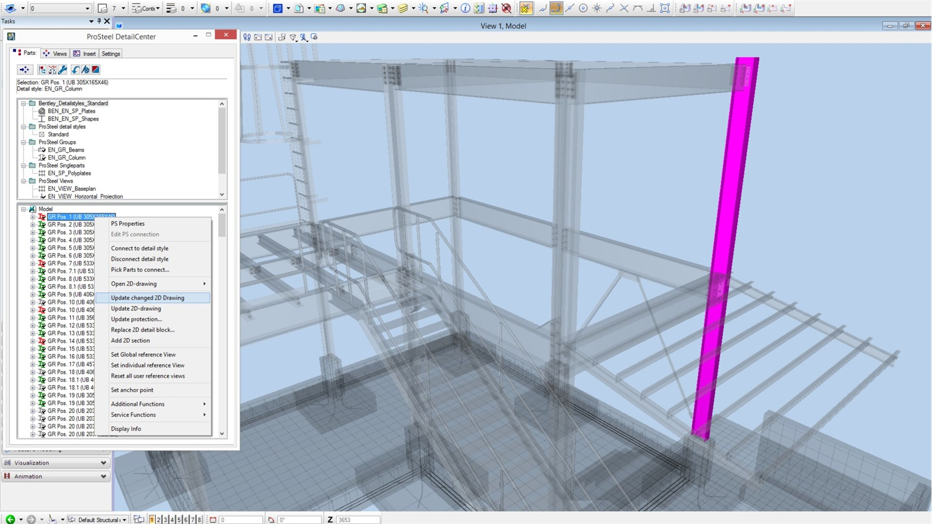 Steel Detailing, Design, and Fabrication Software – ProSteel