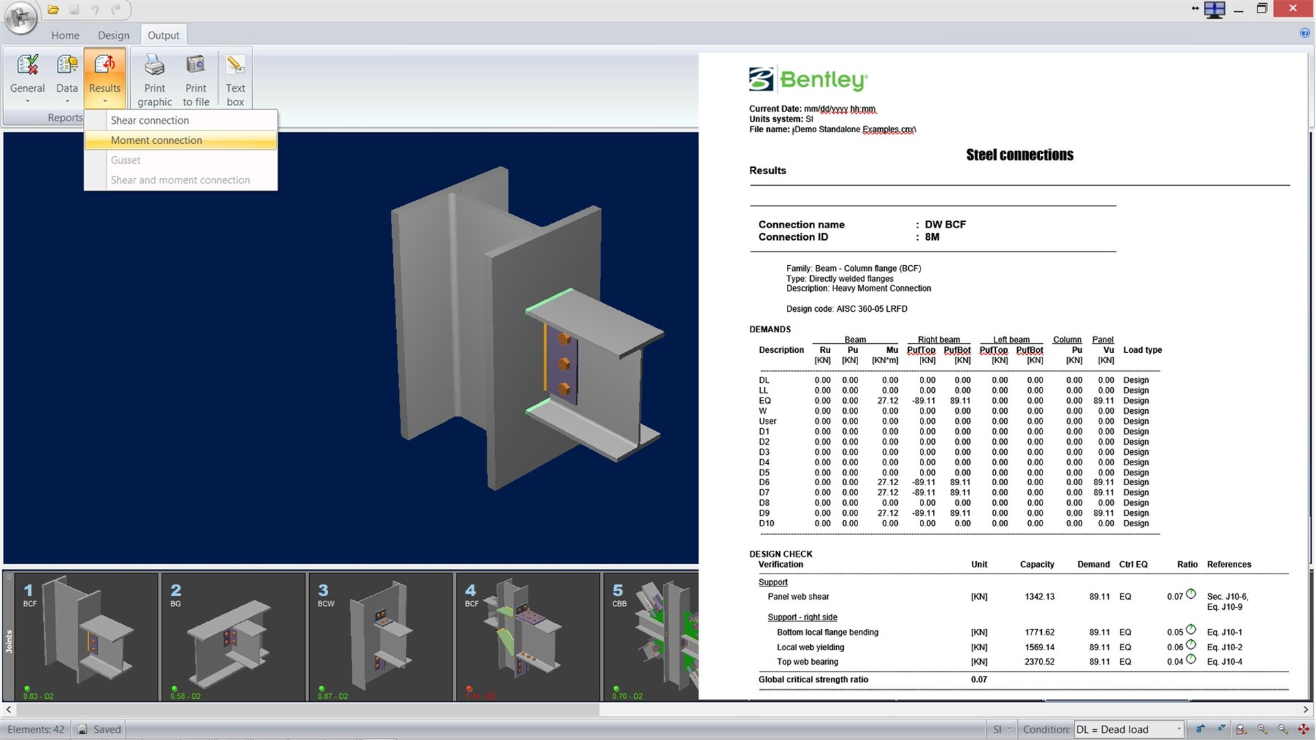 Structural Steel Connection Design Software – RAM Connection