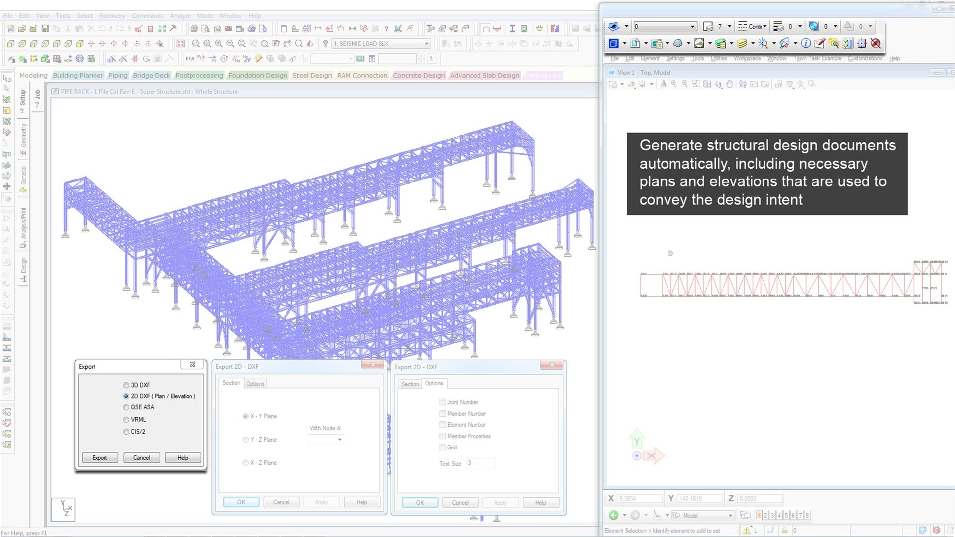 3d structural analysis and design software staad pro rh bentley com Staad.pro Basic Staad Training