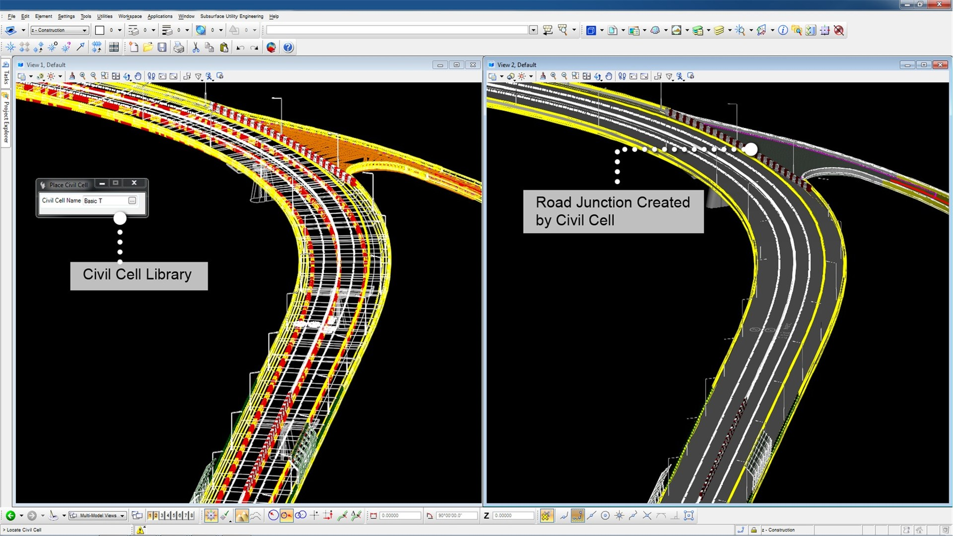 Drawing Lines In Microstation : Civil and transportation mapping software geopak ces