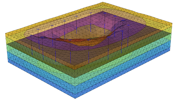 Generate pore-water pressures for export to slope stability models