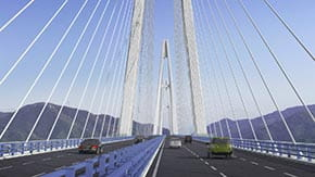 Pingtang Bridge rendering