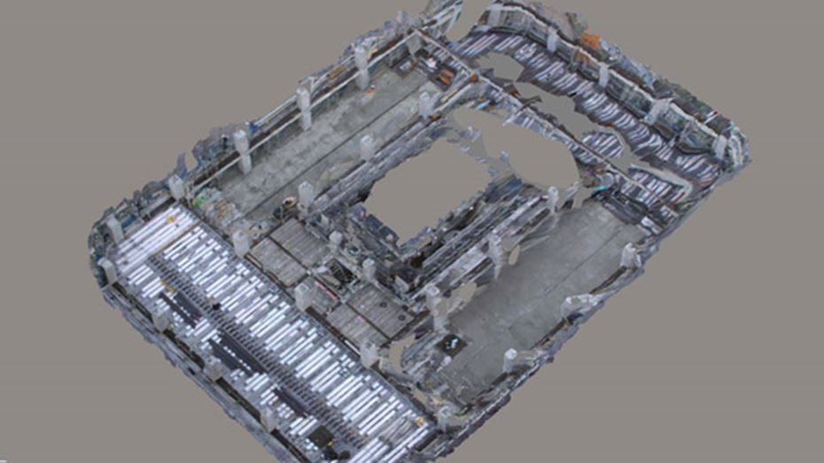 ContextCapture acquires construction site images captured by cameras installed on tower cranes