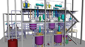 installation for alkyd resin production - Autoplant 3d